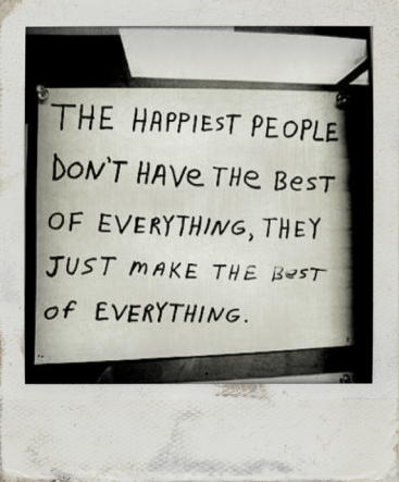 The Happiest People......