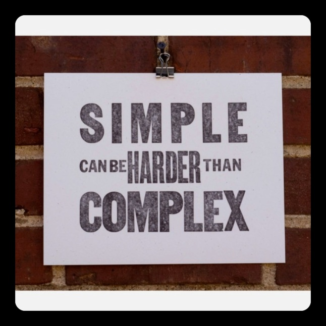 Simple can be harder than Complex