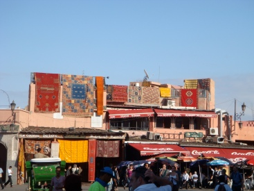 On the Djemaa el-Fna square