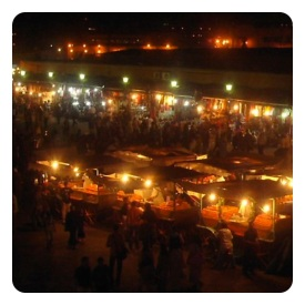 Djemaa el-Fna by night