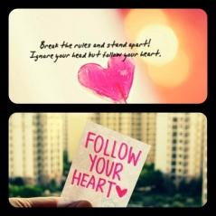 Break the Rules..Follow Your Heart