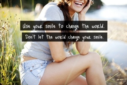 Use your Smile to Change the World...