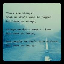 Accept, Learn & Let Go