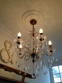 Chandelier in the entrance