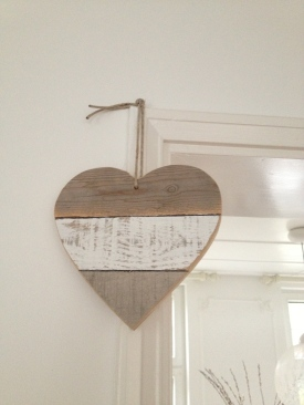 Heart of Recycled Wood in the living room