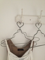 Even hearts in the Zinc clothes hangers ;)