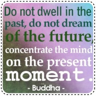 Concentrate the mind on the present moment - Buddha