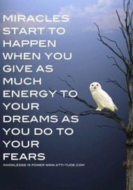 Give as much energy to your dreams as you do to your fears!