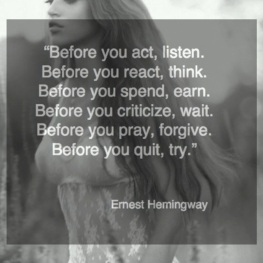 Quote from Ernest Hemingway