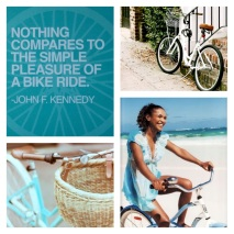 Nothing compares to the simple pleasure of a bike ride - John F. Kennedy