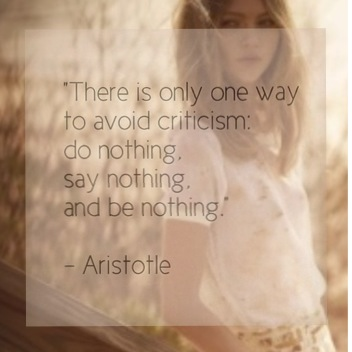 I love this quote from Aristotle! It's so true.