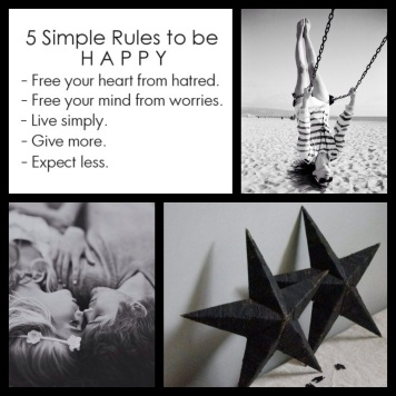 5 Simple Rules to be HAPPY