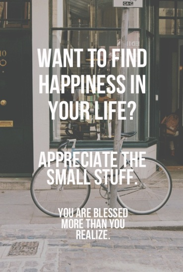 Appreciate the small stuff!